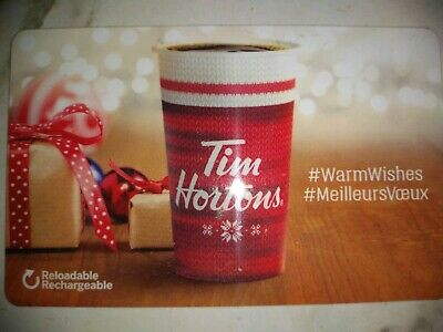Collectable Tim Hortons Warm Wishes Gift Card #Fd59745..No Monatary Value