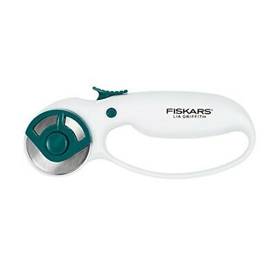 Fiskars Lia Griffith Rotary Cutter 45mm-white/teal