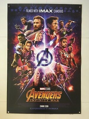*Ultra Rare* Avengers Infinity War | original DS movie poster 27x40 INTL | IMAX