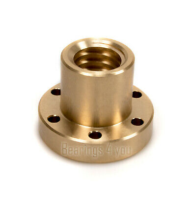 Tr22x5-RH Flanged Bronze Trapezoidal Nut 22 mm Spindle 5 mm Pitch Right Handed