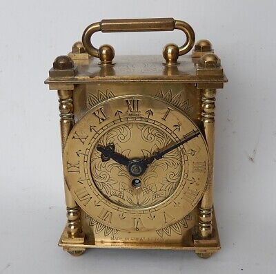 Smiths Brass Case 8 day Mantel Clock Fully Working 2947