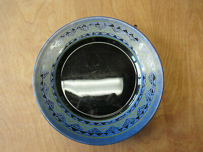 "Arcoroc France YUCATAN Dinner Plate 10 3/4"" Blue Black 1 ea   5 available"