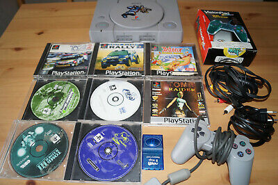 Sony PlayStation 1 ( PS one ) + 8 Spiele + 2 Controller + Memory Card