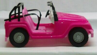 "2008 Mattel Barbie Pink Safari 12"" x 7"" Beach Party Cruiser - 2 seater..."