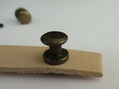 Antique Brass Sam Browne Stud & Washer - Choose Your Pack Size