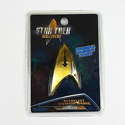 Star Trek Discovery Starfleet COMMAND Magnetic Replica Division Badge