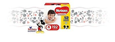 HUGGIES Snug & Dry Baby Diapers Size 4 (fits 22-37 lbs.) 192 Count Economy Pack