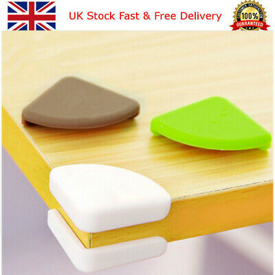 Baby Safety Corner Cushions Silicone Table Protectors Desk Edge Guards Cover UK