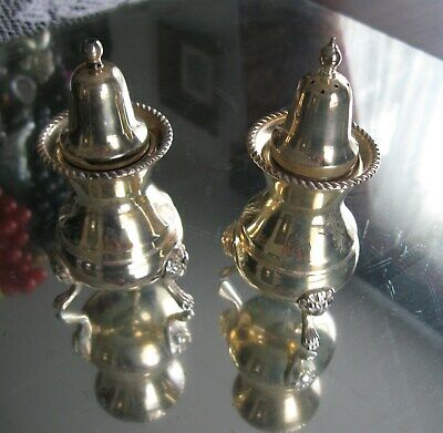 Fabulous Antique Victorian Arthur Price Silver Plate Salt & Pepper Shakers