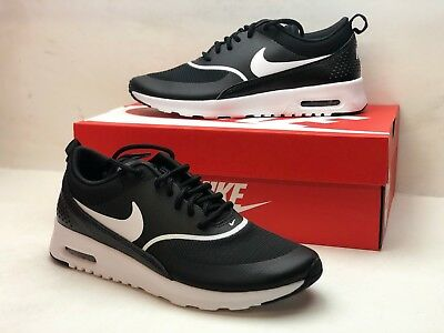 the best attitude 3dc63 53b47 Nike Air Max Thea Womens Black White Athletic Training Shoes 599409-028  Size 6