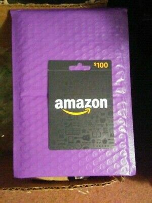 $100 Amazon Gift Card  FREE SHIPPING & TRACKING NEW AMAZON BLACK CARD