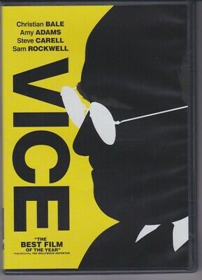 Vice (2018, DVD) Christian Bale, Amy Adams, Sam Rockwell, Steve Carell