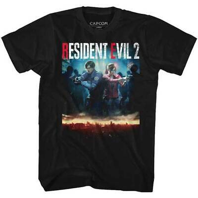 Resident Evil Remake Leon Claire Cover Horror Scary Video Games T Shirt RES544