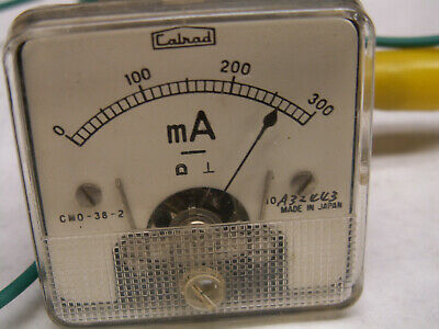 Calrad miniature panel meter, CMD-38-2,  0 - 300 maDC, tested
