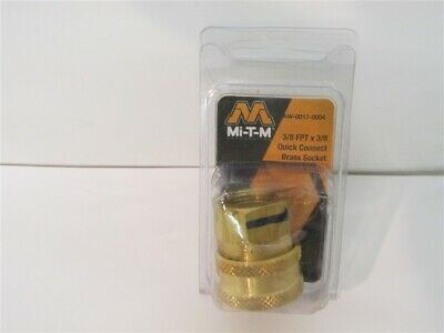 "Mi-T-M AW-0017-0006 Replacement Pressure Washer Quick Connect ⅜/"" x ⅜/"" FNPT Plug"