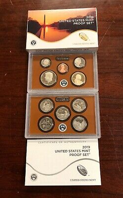 2019-S US Mint Proof Set - 10 Coins  With OGP & COA - No Extra W Cent