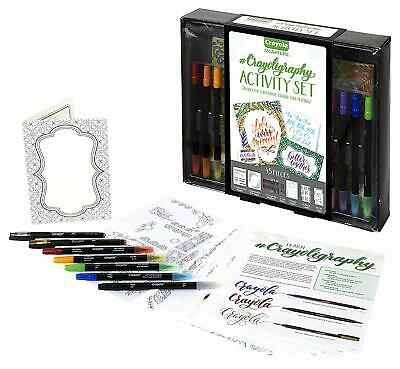 Crayola Beginner Hand Lettering Kit with Tutorials, Easier Than Calligraphy, Mot