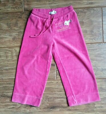 H & M Cerise Pink Velour-Feel Trousers (2 - 3 years) - Very Good Condition
