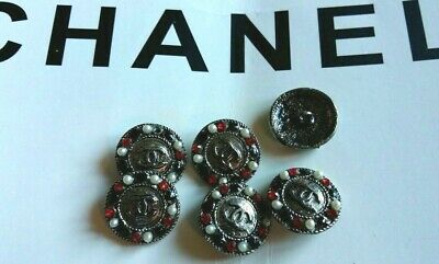 Chanel  Buttons white 20MM Set of 6 metal