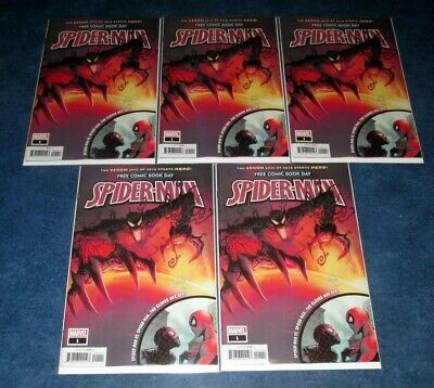 x5 ABSOLUTE CARNAGE starts here SPIDER-MAN #1 2019 FCBD promo CARNAGE NM NEW