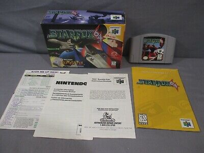 Nintendo 64 STARFOX w/ Box & Instruction manual N64 1997