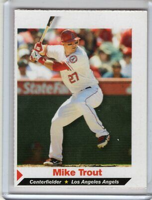 Mike Trout 2012 Sports Illustrated 1st Angels Rookie Card 177 Wh