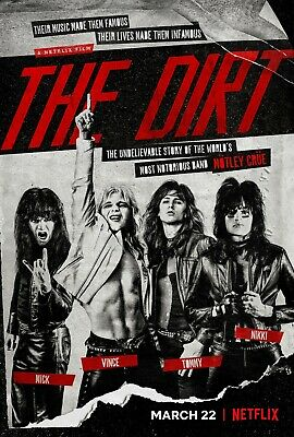 Motley Crue THE DIRT Movie Netflix New 2019 Movie Poster Print 11x17