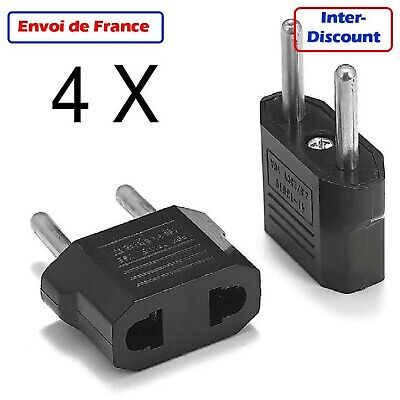 Adaptateur Secteur Prise USA  US vers EU France Europe US plug adapter to EU