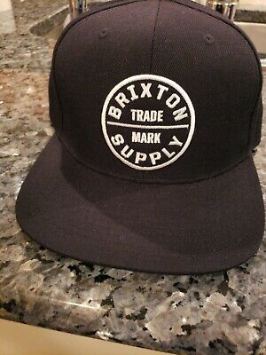 c42826664d17e Brixton Supply Trade Mark Cap Hat Adjustable Oath III Snapback Grey Black
