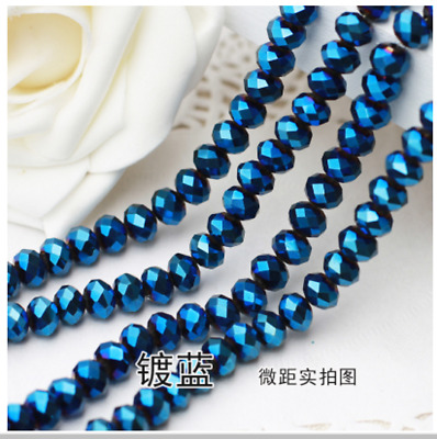 Wholesale 100/500/1000pcs Crystal Glass Faceted Rondelle Loose Spacer Beads 6mm