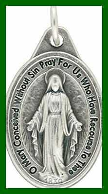 """Bulk Buy 10 Pcs Miraculous Medal 1"""" Lot Of Medals Rings Included Mary Our Lady G"""