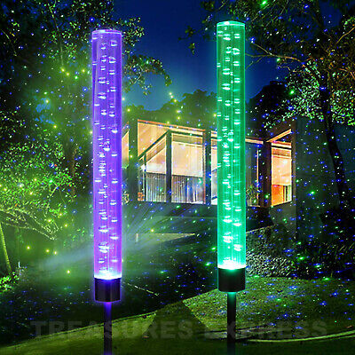 Solar Magical Bubble Lights Color Changing Garden Path Patio Backyard 2 pack