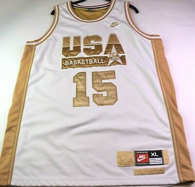 d5cba48b9f83 NIKE 1992 USA Olympics Dream Team Magic Johnson Jersey  15 Gold XXL ...