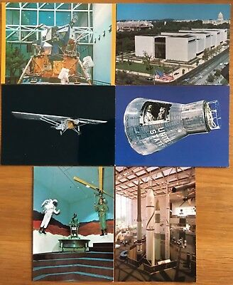 Lot 6 Old Postcards National Air & Space Museum Smithsonian Institute Washington
