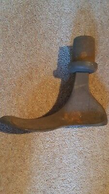 Shoe last vintage cobblers mould last heavy great door stop!