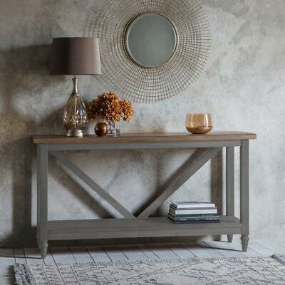 Frank Hudson Gallery Direct Cookham Grey Trestle Console Table