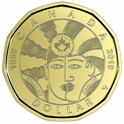 2019 Canada $1 Equality BU Loonie From Special Wrap Roll Coin