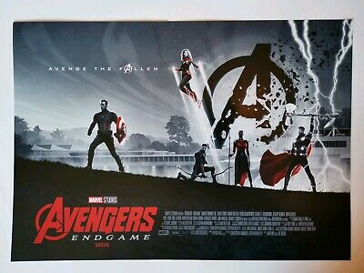 Avengers Endgame Odeon Poster A3 ***NOW 2 FOR 1***