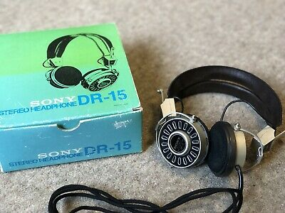 Sony DR 15 Headphones Vintage Retro 1971 Made In Japan