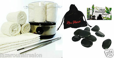 Beauty Salon Towel and Spa Stones Steamer Set. Towel warmer