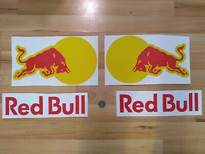Red Bull Racing Xtra Large 30cm Stickers Set X4 See pics for example application