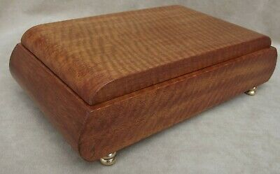Vintage Wooden Musical Jewellery Box - Thorens Movement