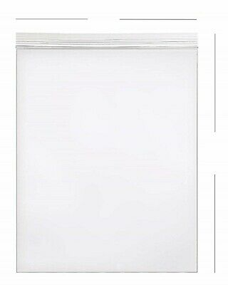 100- 9x12 Zip Lock 2 MIL Reclosable Resealable Clear Ziplock Plastic Poly Bags