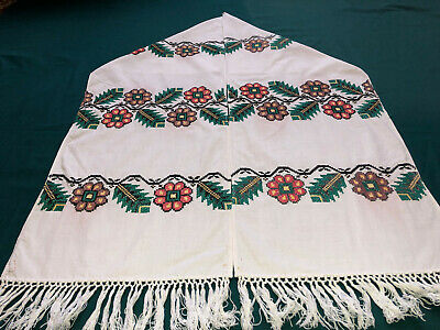 Vintage Embroidered Ukrainian folk towel rushnik handmade №731