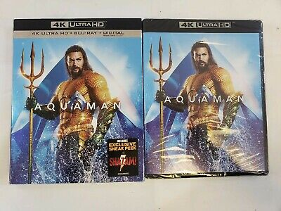 Aquaman (2018) (4K Ultra HD + Blu-Ray + Digital) w/Slipcover