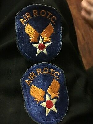 Set of 2 WWII MILITARY PATCHES US ARMY AIR R-O-T-C Never Sewn