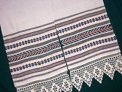 Vintage Embroidered Ukrainian folk towel rushnik handmade №993