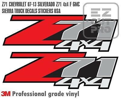 2X Z71 CHEVROLET 07-13 SILVERADO Z71 4x4 F GMC SIERRA TRUCK DECALS STICKERS USA