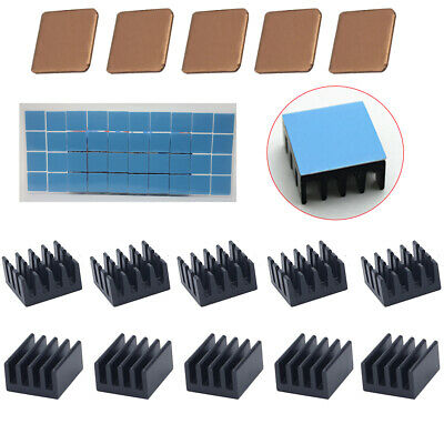 25x Anodize Aluminium Heatsink+Copper Sheet + Double-sided Thermal Adhesive Tape
