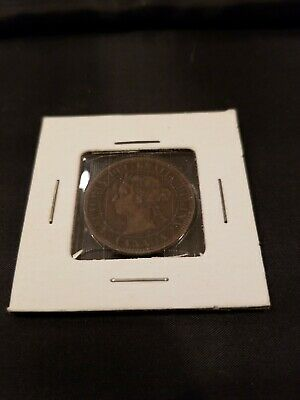 1896 Queen Victoria Large One Cent Canada High Grade Coin, sealed